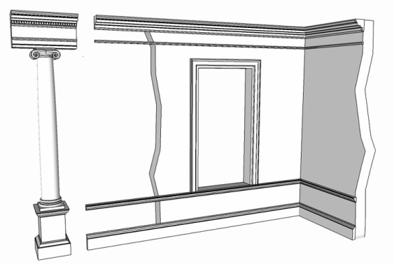 sizing mouldings from a classical order