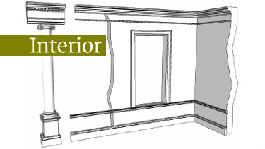 using a classical order to proportion mouldings