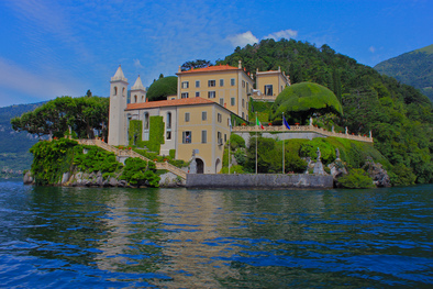Villa Balbianello by Lake Como in Italy