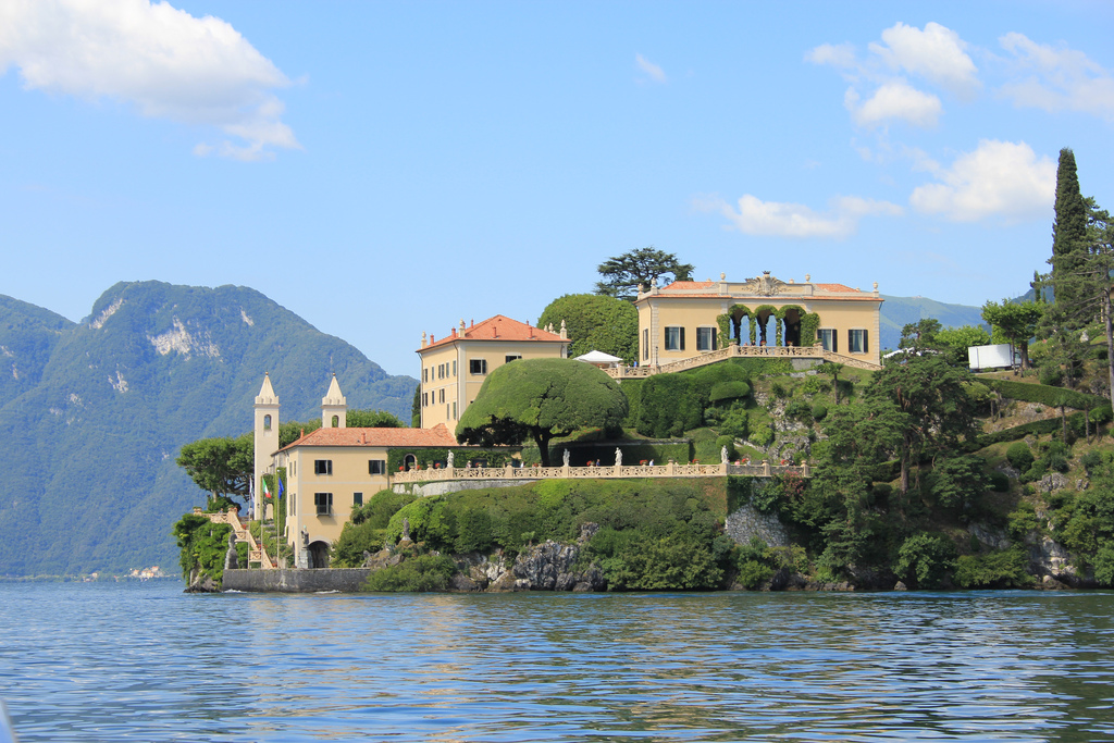 Villa Balbianello on Lake Como in Italy
